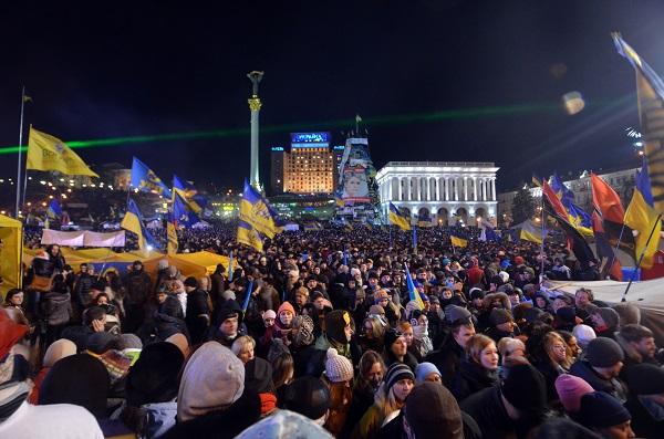Kiev'deki eylem devam ediyor