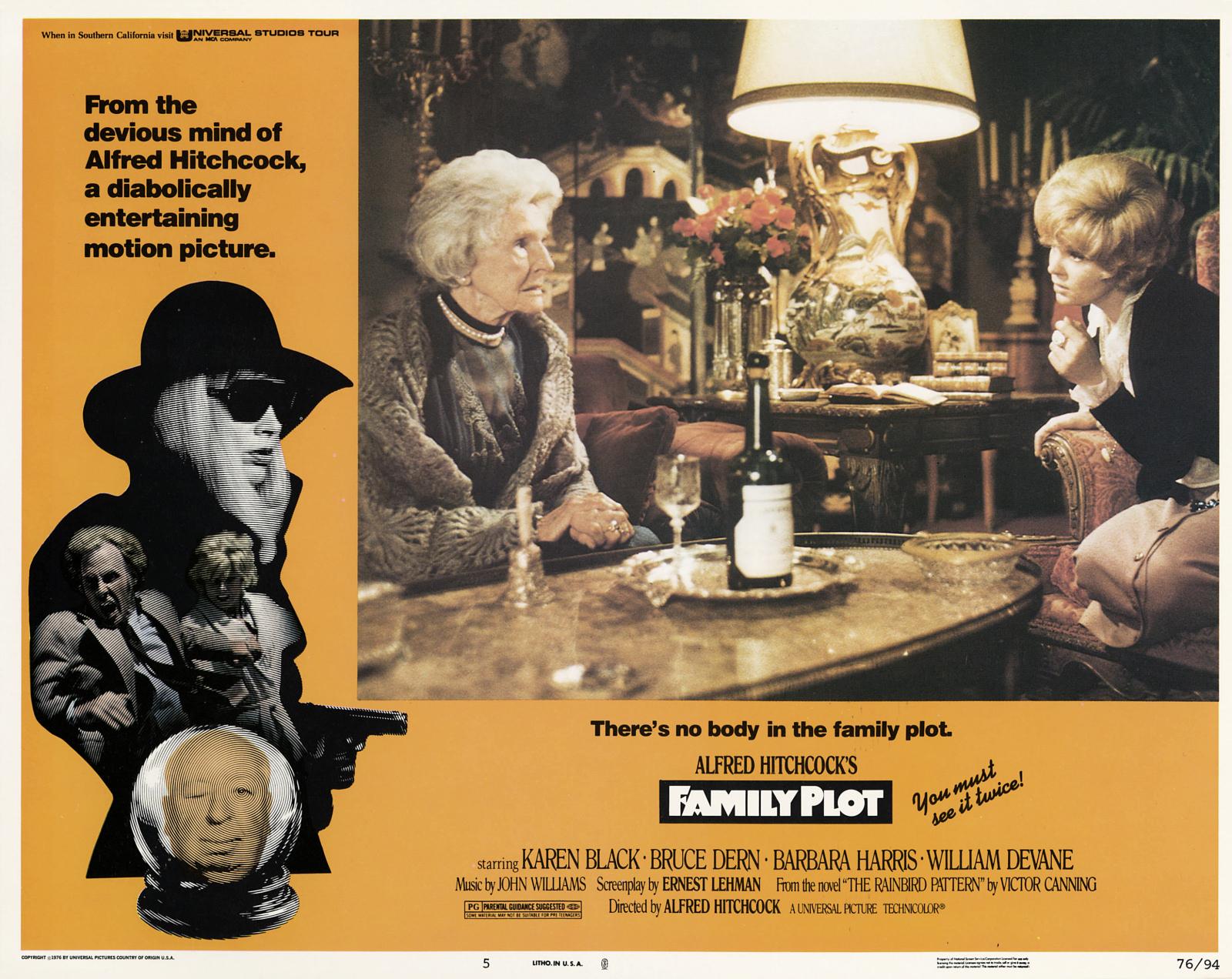 Son filmi Aile Komplosu (Family Plot) (1)