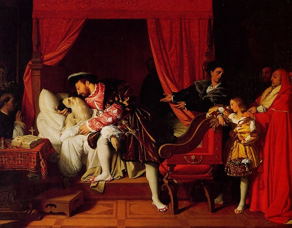 Kralin_64luk_dostu_ tablo_Leonardo da Vincinin olumu Jean Auguste Dominique Ingres 1818-leonardo-da-vinci