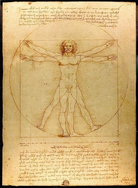 Penisi olmayan adam Vitrivius Adami-leonardo-da-vinci