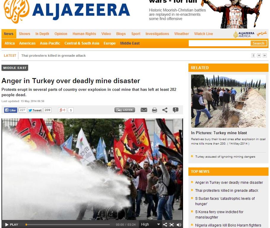 aljazeera-Anger in Turkey over deadly mine disaster