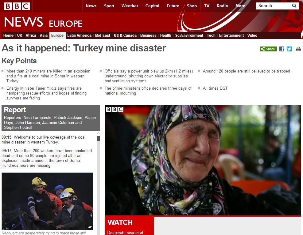 bbc-As it happened Turkey mine disaster