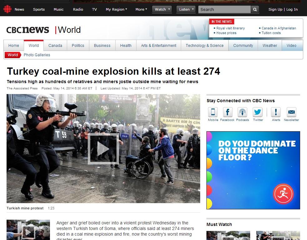 cbcnews-Turkey coal-mine explosion kills at least 274