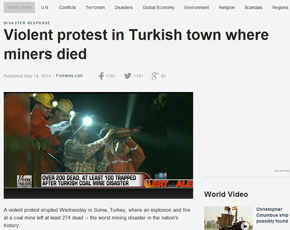 foxnews-Violent protest in Turkish town where miners died