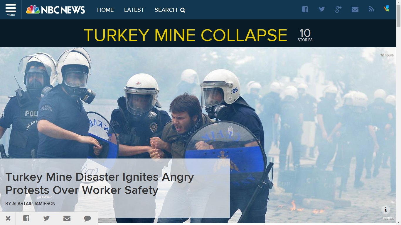 nbcnews-Turkey Mine Disaster Ignites Angry Protests Over Worker Safety