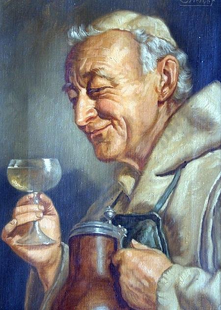 omer-hayyam-Ernst_Stierhof_(1888)_German_Monk_drinking_wine