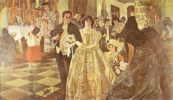 bolivar-04-Matrimonio del Libertador Por Tito Salas