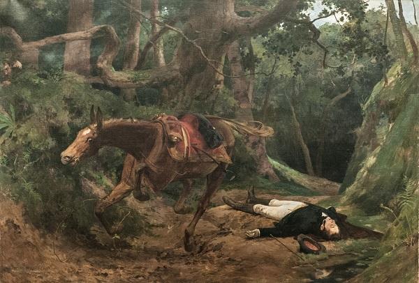 bolivar-17-Muerte_de_Sucre_en_Berruecos_1895_by_Arturo_Michelena