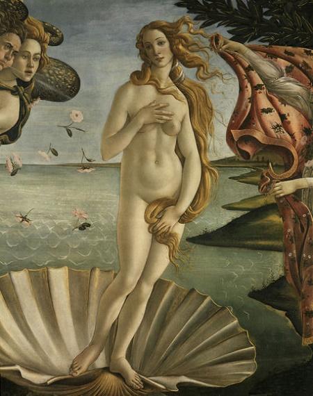 Botticelli,Geburt der Venus / Ausschnitt - Botticelli, Birth of Venus / Detail - Botticelli / Naissance Venus / Detail