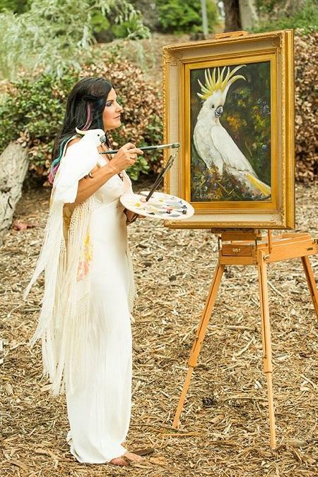 concetta-papaganla-resim-yapiyor