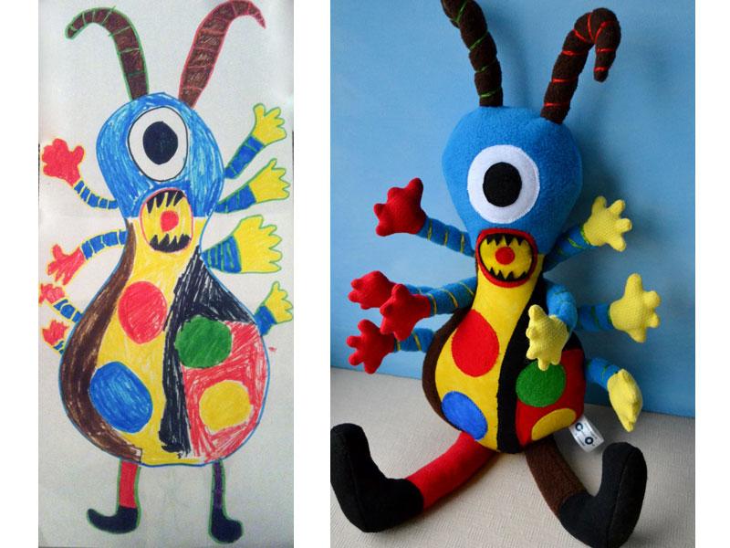 cocuk-resimleri-gercek-oyuncaklar-boynuzlu-canavar