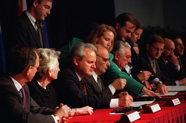 Dayton Peace Accords Signed