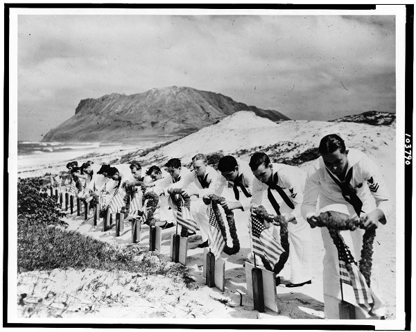 japans-surprise-attack-of-pearl-harbor-on-dec-7-1941-spurred-americas-entry-into-world-war-ii-this-photo-shows-a-memorial-service-for-sailors-killed-in-the-attack