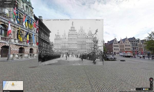 1914-15 German troops in Antwerp, Belgium