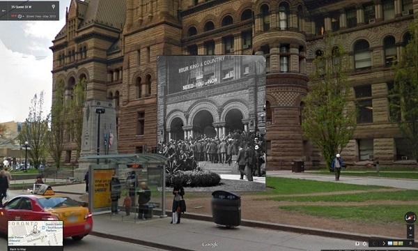 1914 A recruiting drive at City Hall Toronto