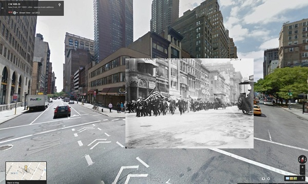 1914 German reservists on 5th Avenue, New York