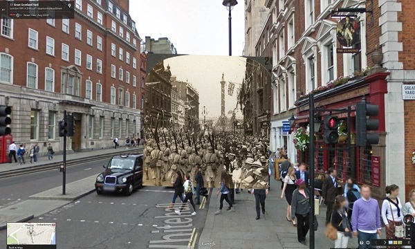 July 1919 French soldiers march in the Peace Day victory parade through London