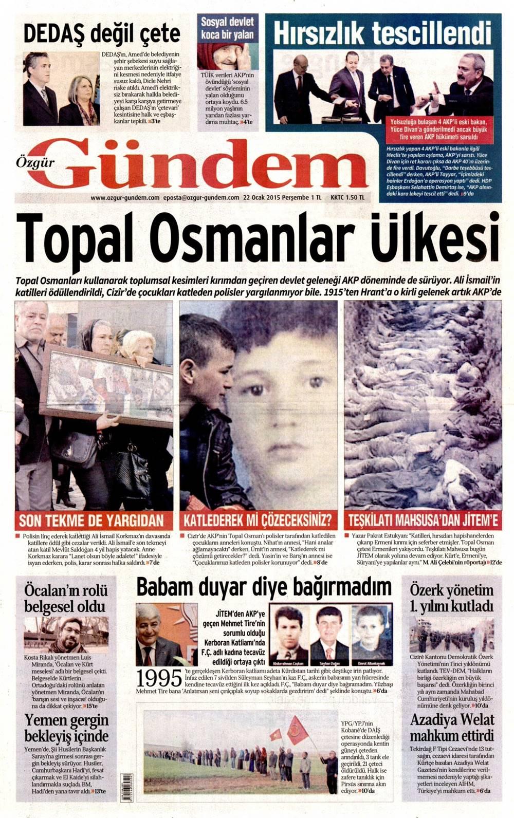ali ismail basin yansimalari 015-ozgur-gundem_2015-01-22