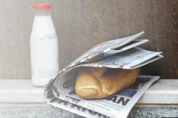 ekmek gazete sut