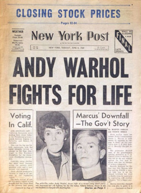 warhol fights for life
