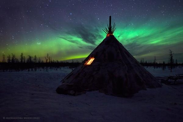 sibirya rusya kuzey isiklari