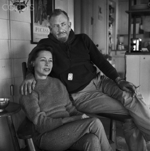 John Steinbeck And Wife Elaine