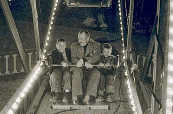 Thom and John Steinbeck with their father