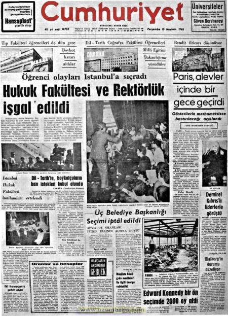 rektorluk isgali cumhuriyet