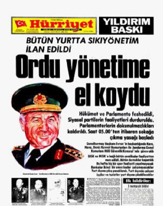 12 Eylul 1980 14 bin kisi