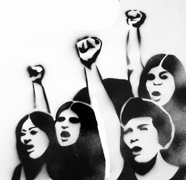 kadin protesto streetart