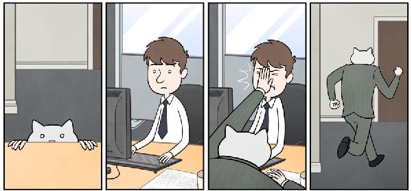 kedi karikatur 3