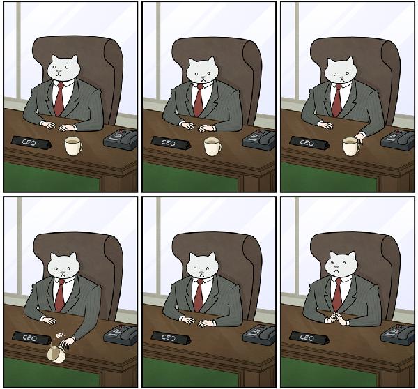 kedi karikatur