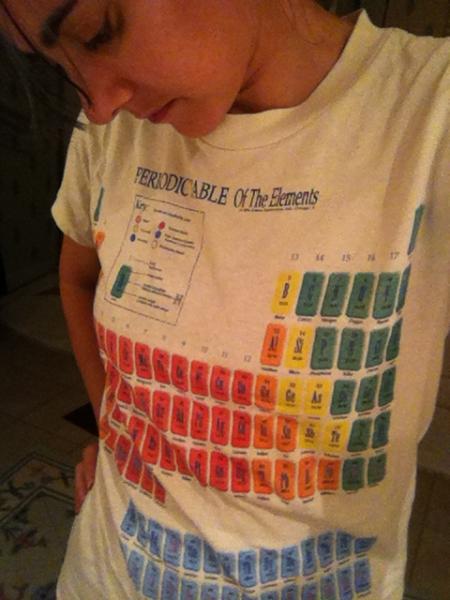 periyodik tablo tshirt