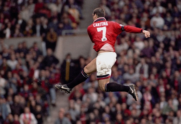 Eric Cantona, Manchester United scores the fifth goal