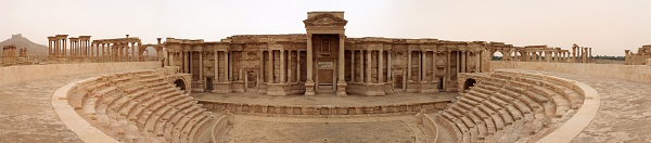 Panoramic view of the Roman theatre in Palmyra, Syria.