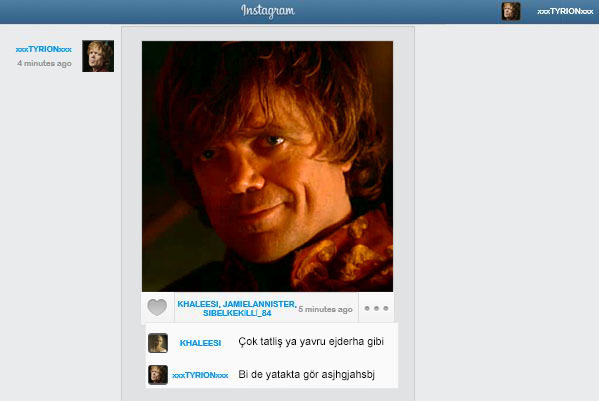 game of instagram tyrion