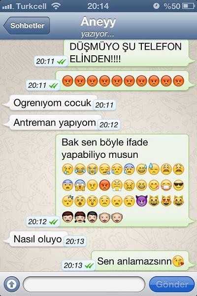 emoji-anne-komik-whatsapp-muhabbetleri-ilk