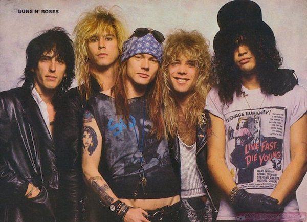 6. Guns N' Roses xxx Slash