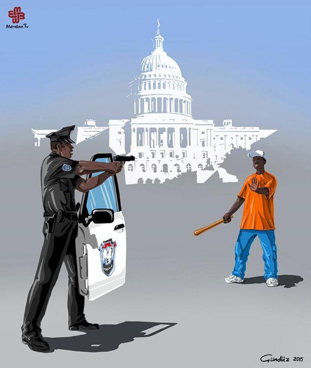 amerika-polis-illustrasyon