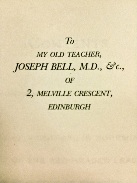 To my old teacher, Joseph Bell