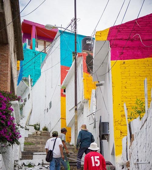 meksika evler renk