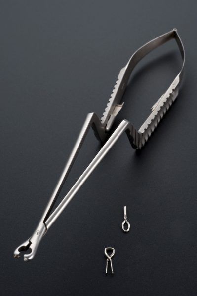 L0058096 Compression forceps for Yasargil clips, Tuttlingen, Germany,