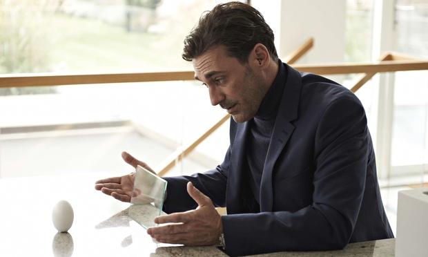 Jon Hamm as Matt in Black Mirror: White Christmas ... along with the razor-ship wit, a very human st