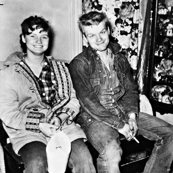 Charles Starkweather, 19, and his girl friend, Caril Fugate, 15,, are the object of a search in connection with six Nebraska Slayings. Lancaster, Neb., county Sheriff Merle Karnopp and Lincoln police Chief Joe Carroll said the pair is wanted for questioning in connection with the slayings, including three members of Caril's family on Jan. 28, 1958. (AP Photo)