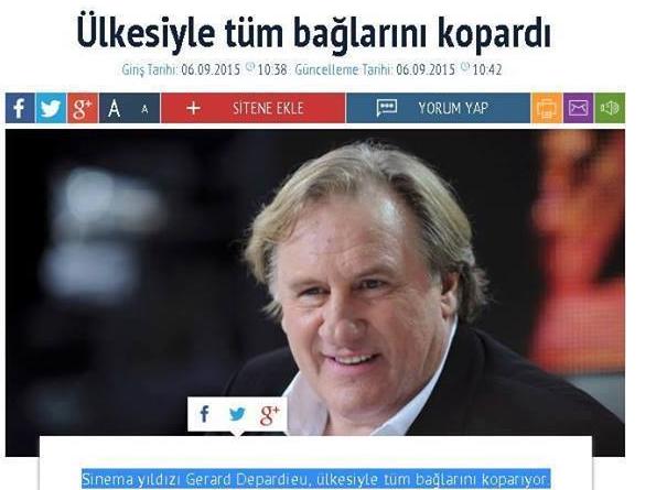 Gerard Depardieu haber