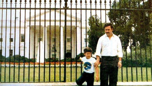 Pablo Escobar and his son