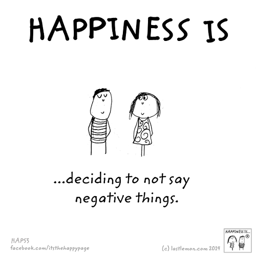 hapinees negative
