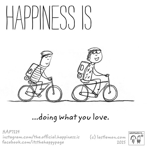 happiness doing what you love