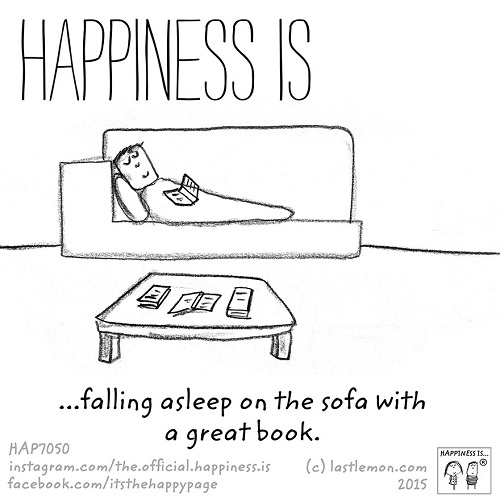 happiness falling a sleep