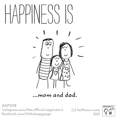 happiness mom and dad